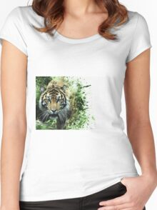 Tiger Ready Women's Fitted Scoop T-Shirt