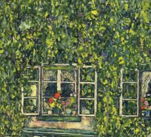 Gustav Klimt - The House Of Guardaboschi 1912 Sticker