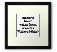 Windows & Gates Framed Print