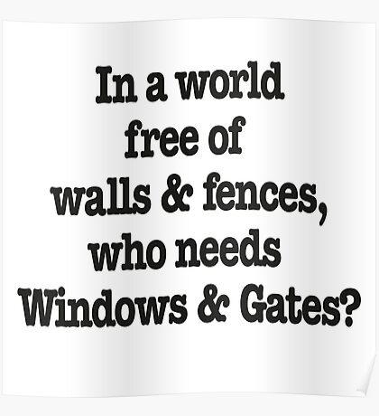Windows & Gates Poster