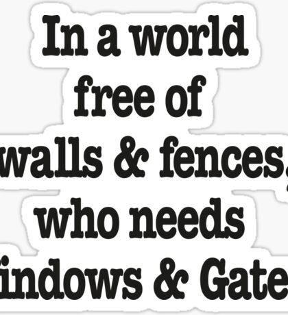 Windows & Gates Sticker