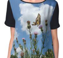 Butterfly Garden Chiffon Top
