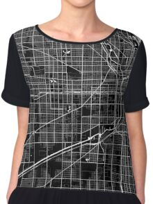 Chicago - Minimalist Maps Chiffon Top