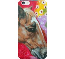 'PORTRAIT OF A HORSE (WITH AN ABSTRACT BACKGROUND)'  iPhone Case/Skin