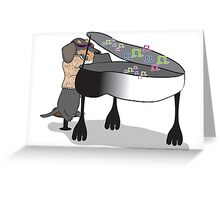 Piano Hound Greeting Card