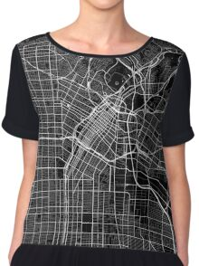 Los Angeles - Minimalist City Maps Chiffon Top