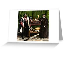 Hans Holbein the Younger - The Ambassadors 1533 png Greeting Card