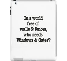 Windows & Gates iPad Case/Skin