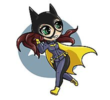 chibi batgirl escapes! Photographic Print
