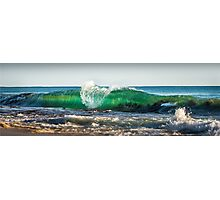 Green wave Photographic Print