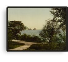 Gursuff from the Park - the Crimea Russia - 1890 Canvas Print