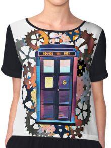 Colorful TARDIS Art Chiffon Top