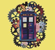 Colorful TARDIS Art Kids Tee
