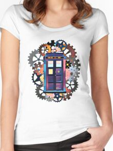 Colorful TARDIS Art Women's Fitted Scoop T-Shirt