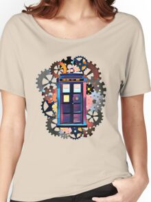 Colorful TARDIS Art Women's Relaxed Fit T-Shirt