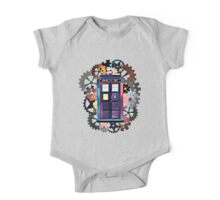 Colorful TARDIS Art One Piece - Short Sleeve