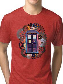 Colorful TARDIS Art Tri-blend T-Shirt
