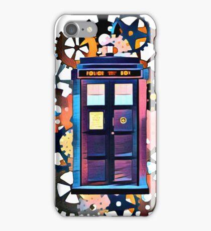 Colorful TARDIS Art iPhone Case/Skin