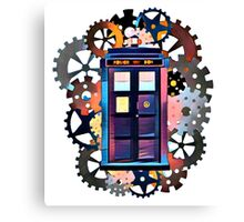 Colorful TARDIS Art Canvas Print