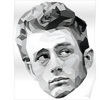 James Dean Geometric Graphic Poster