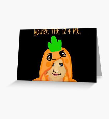 Hannah Hart Carrot Onesie :) Greeting Card