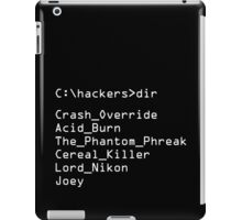 Hackers Movie - C: Cast of Characters iPad Case/Skin