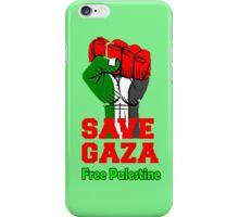 SAVE GAZA, FREE PALESTINE iPhone Case/Skin