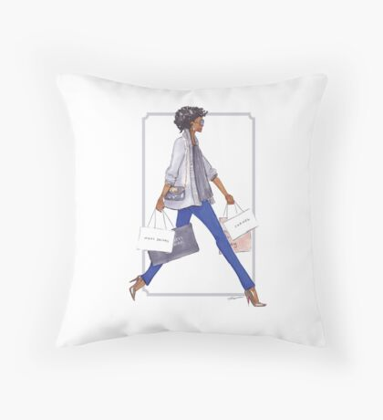 Off to Shop Throw Pillow