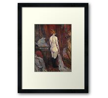 Henri De Toulouse Lautrec Woman Before A Mirror 1897  Framed Print