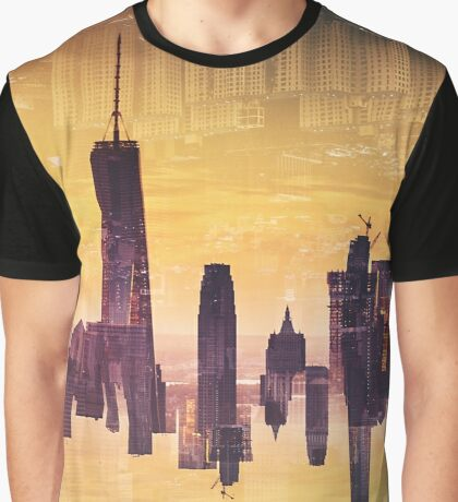 double exposure of nyc skyline Graphic T-Shirt