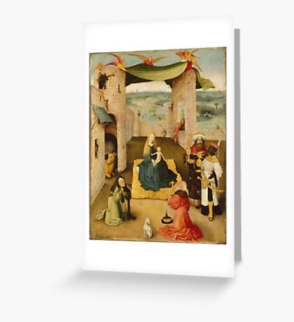 Hieronymus Bosch - The Adoration Of The Magi 1475 Greeting Card