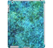Aqua Blue and Green Abstract Mosaic Pattern. iPad Case/Skin