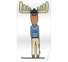 hang moose snowboarder Poster