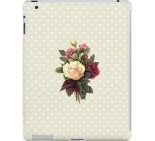 Roses, Flowers, Blooms, Leaves - Red Green White iPad Case/Skin