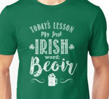 Irish Lesson (Beoir / Beer) Unisex T-Shirt