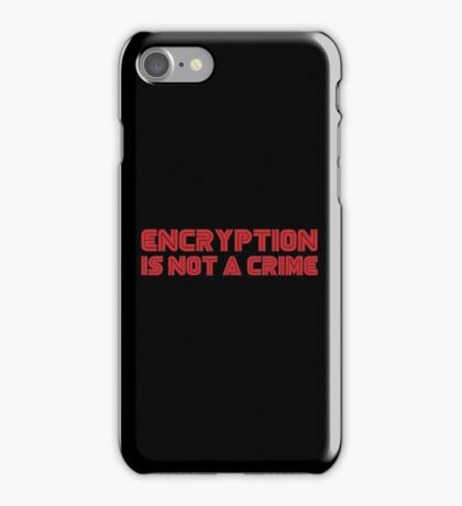MR. ROBOT Encryption is not a Crime iPhone Case/Skin