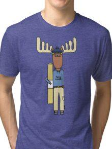 hang moose snowboarder deck Tri-blend T-Shirt