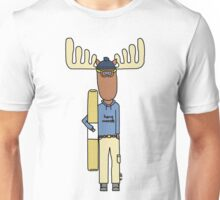 hang moose snowboarder deck Unisex T-Shirt
