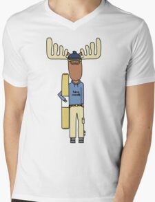 hang moose snowboarder deck Mens V-Neck T-Shirt