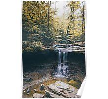Early Fall Foliage - Blue Hen Falls Ohio Poster