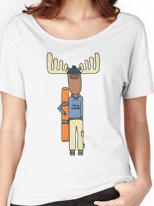hang moose snowboarder Women's Relaxed Fit T-Shirt