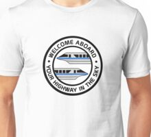 MonorailHighwayBlue Unisex T-Shirt