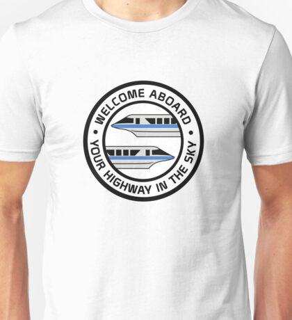 MonorailHighwayBlue Unisex T-Shirt