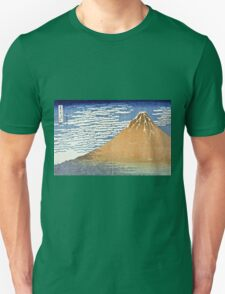 Hokusai Katsushika - Fine Wind, Clear Morning  (The Red Fuji)  Unisex T-Shirt