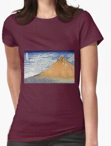 Hokusai Katsushika - Fine Wind, Clear Morning  (The Red Fuji)  Womens Fitted T-Shirt