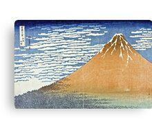 Hokusai Katsushika - Fine Wind, Clear Morning  (The Red Fuji)  Canvas Print