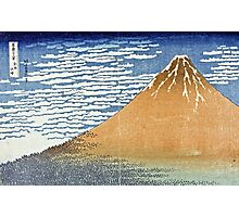 Hokusai Katsushika - Fine Wind, Clear Morning  (The Red Fuji)  Photographic Print