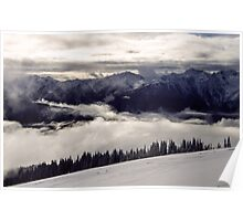 Clearing Storm on Hurricane Ridge Poster