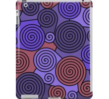 Blue and red hypnoses  iPad Case/Skin