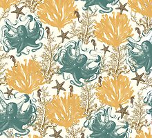 Aquatic Pattern - Endless Summer by Paula Belle Flores